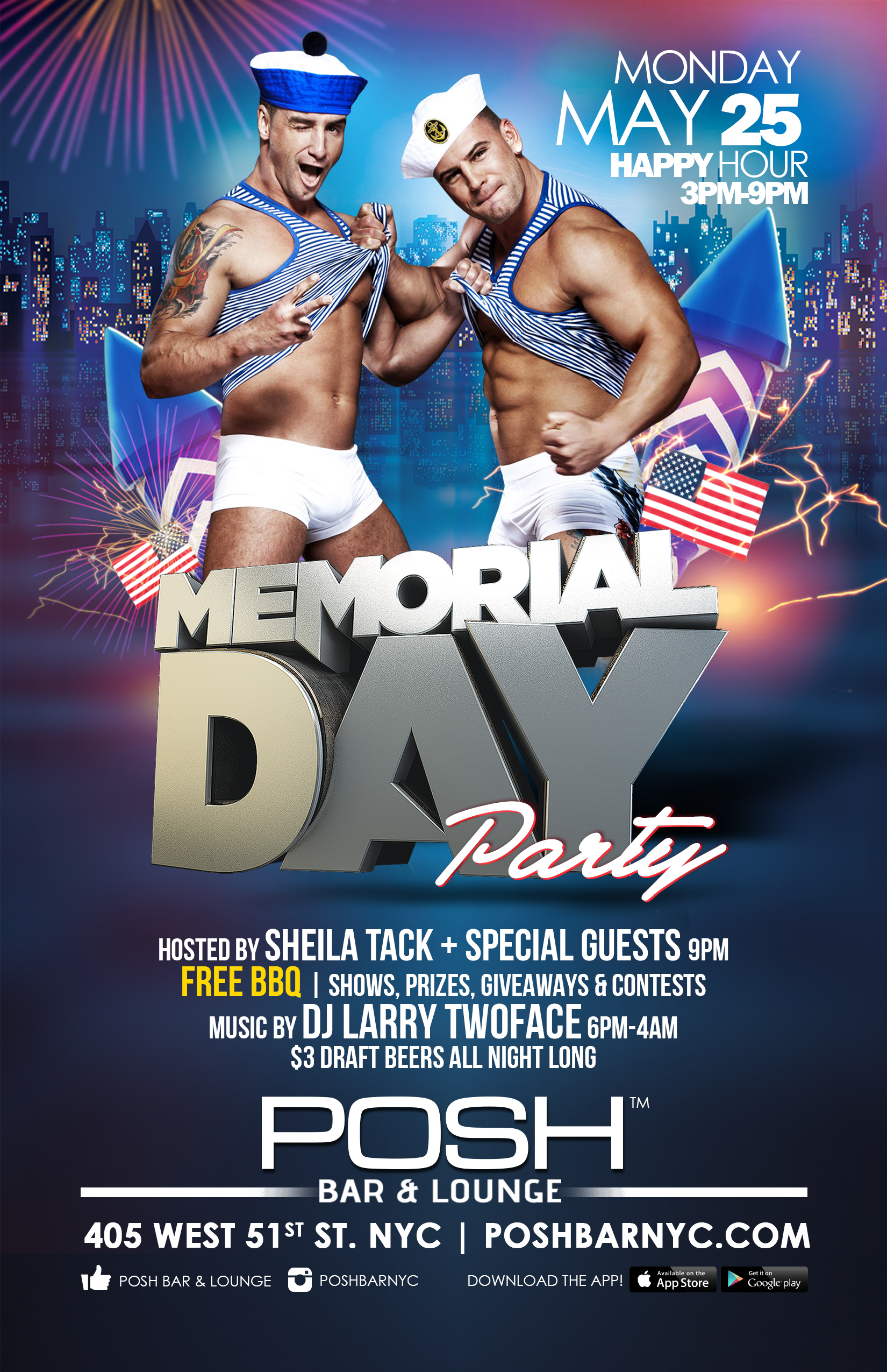 Memorial Day Party + BBQ | Posh Bar & Lounge - The Original Gay ...